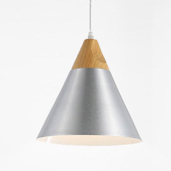 HONEY COMB 北歐原木極簡風單吊燈 銀色 TA8372