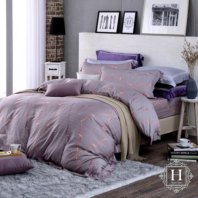 【HOYA H Series】安德魯特大四件式400織匹馬棉被套床包組