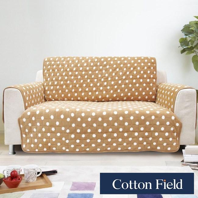 棉花田【暖點】單人沙發防滑保暖保潔墊-3色可選單人-淺褐