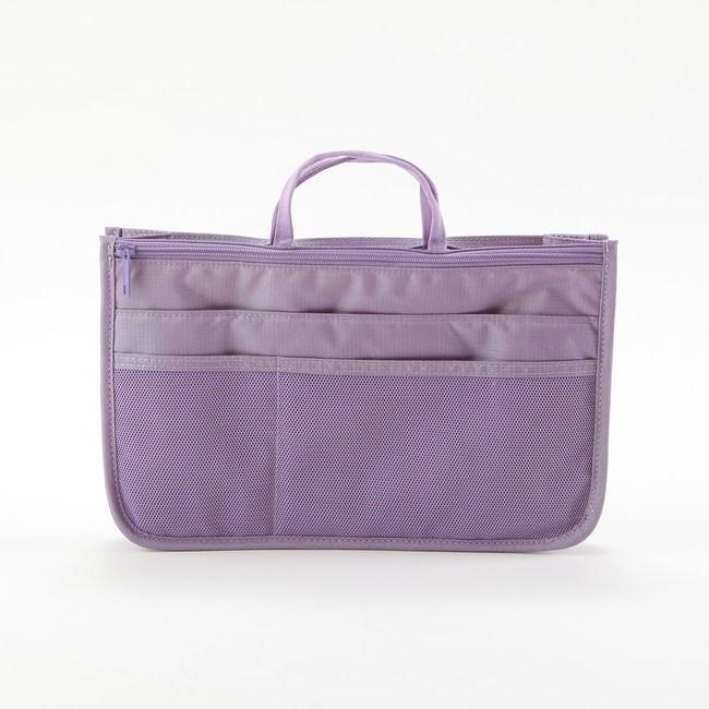 微旅行雙拉鏈袋中袋 紫