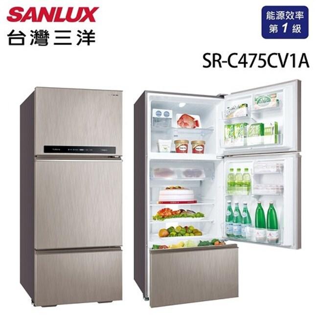 SANLUX 台灣三洋 475L 變頻三門電冰箱 SR-C475CV1A