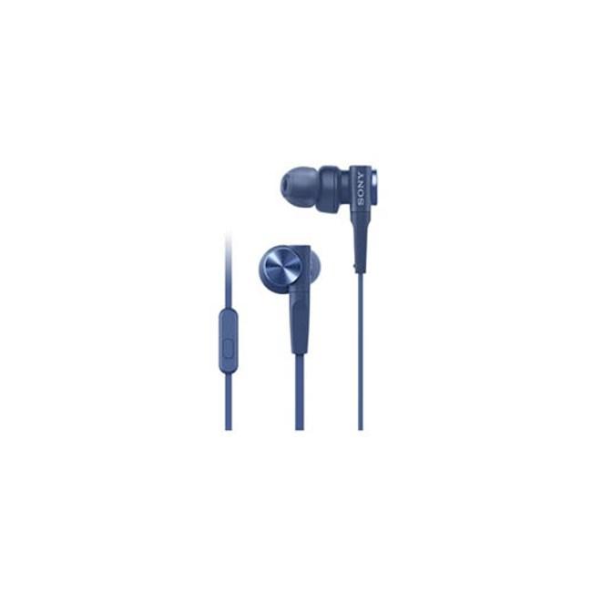 【送收納盒】SONY MDR-XB55AP 藍 重低音入耳式 支援智慧型手機