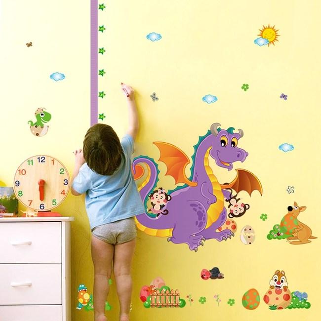 高級無痕環保壁貼可愛恐龍動物星空60x90cm 混款