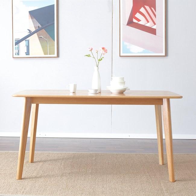 源氏木語柏林橡木1.4M Y8356T+餐椅Y8361-淺灰色(一桌四椅)