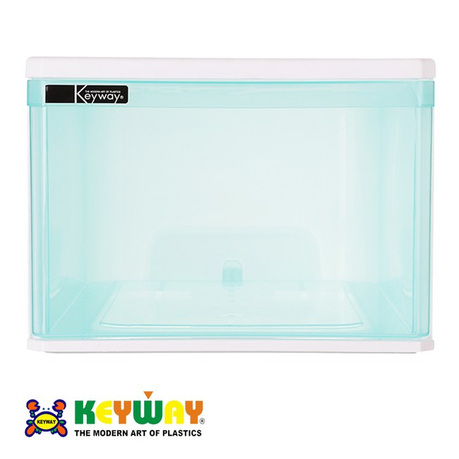 KEYWAY 樂納BOX抽屜整理箱 藍青色 45L BQ-452