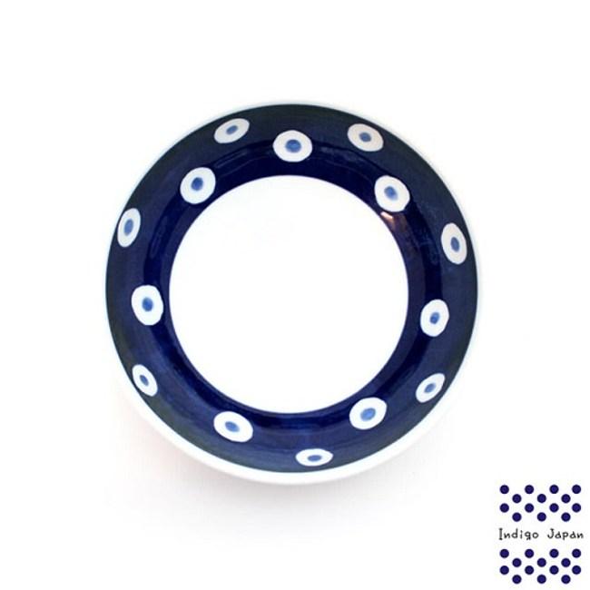 日本 波佐見燒 藍圓點14.5cm多用碗