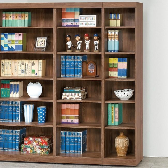 【YFS】艾倫胡桃2X6尺開放書櫃-60x33x180cm