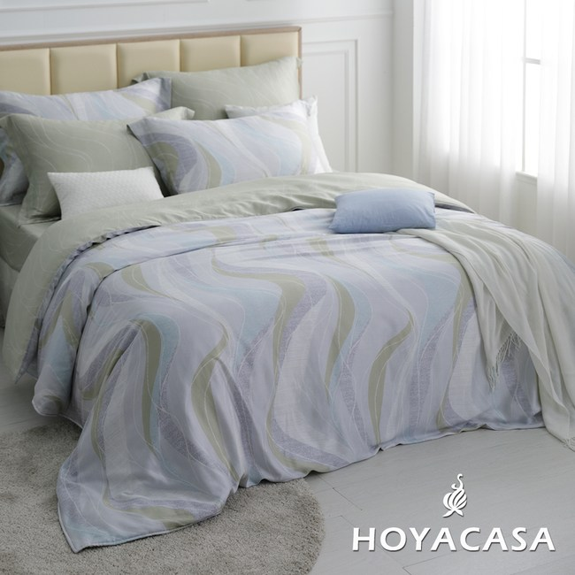 贈舒眠枕! HOYACASA波利亞-雙人四件式抗菌天絲兩用被床包組
