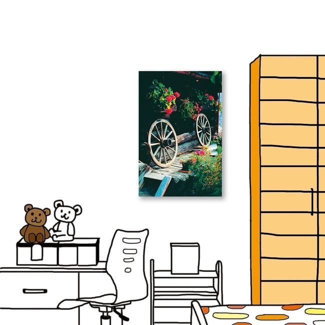 24mama掛畫 單聯式 城市街景 花盆 無框畫 40X60cm
