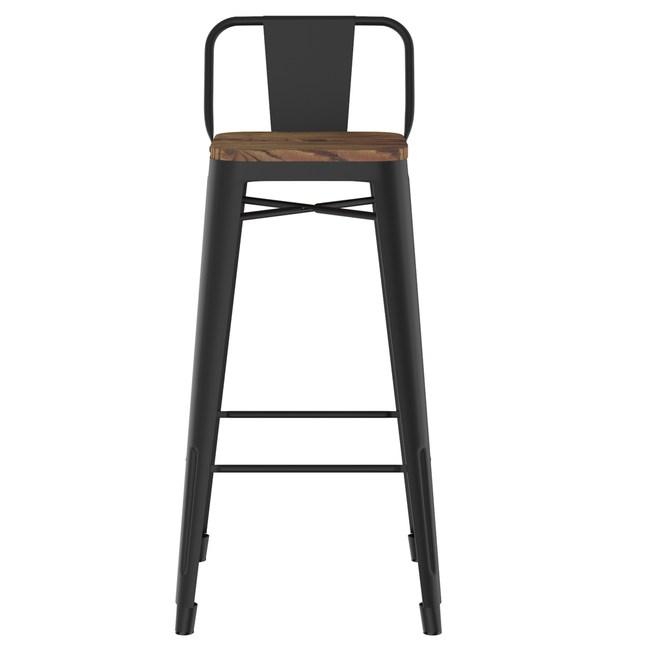 科爾中背吧台椅 磨砂黑