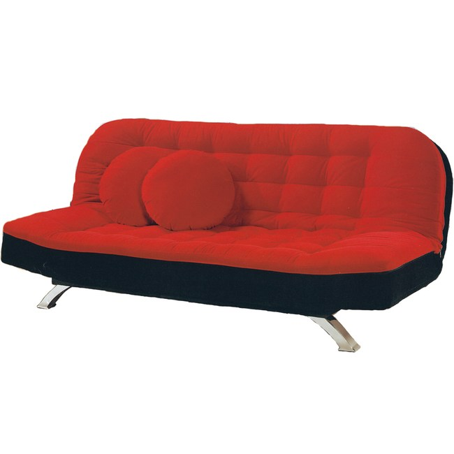 【YFS】羅倫紅黑雙色沙發床-190x115x40cm