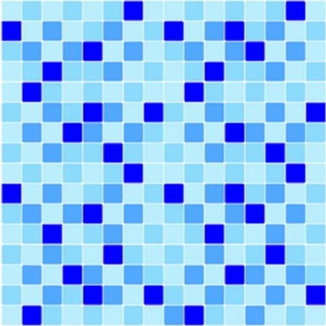 義大利HOME DÉCOR 3D馬賽克磁磚貼 小格藍C31114-1