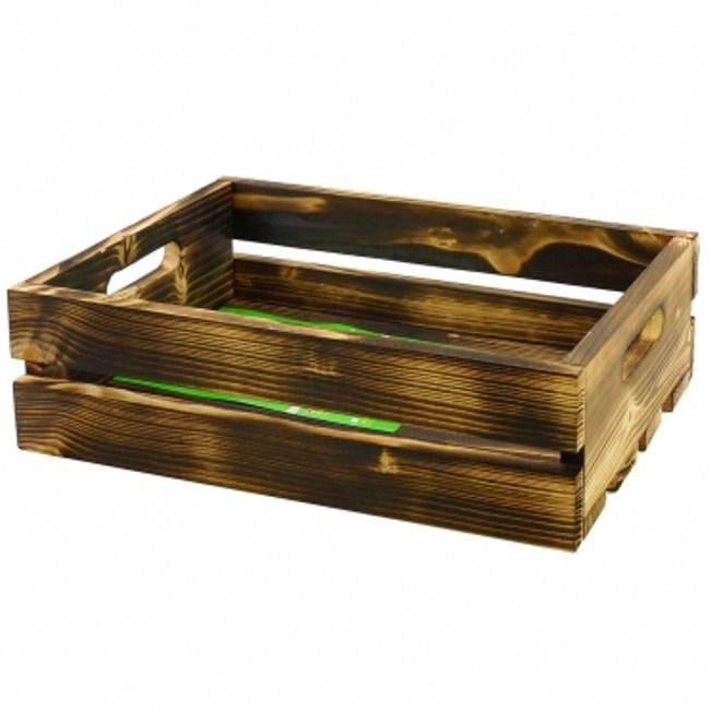 燻木色花箱-小 GAH0028