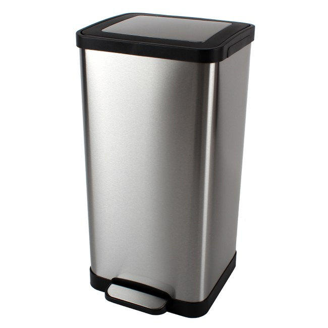Pro特選藤原緩降垃圾桶15L-不鏽鋼