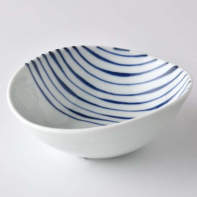康創陶 和食器 前菜碗 直條紋 180ml