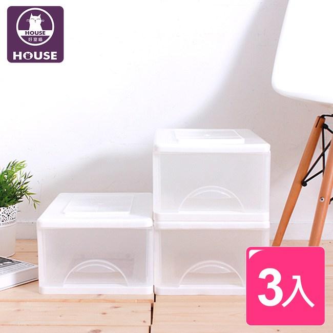 【HOUSE】白色小方塊一層收納櫃9L(三入)