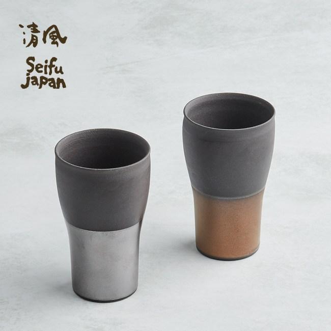 【有種創意】日本美濃燒 - 金銀薄月長陶杯組 (2件式)