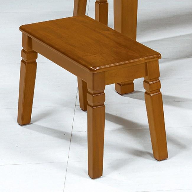 【YFS】艾狄柚木實木休閒短凳-68x30x45cm