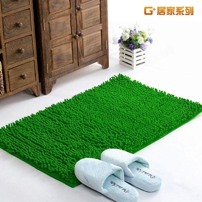 【G+居家】超細纖維長毛吸水止滑墊 40*60cm 青草綠