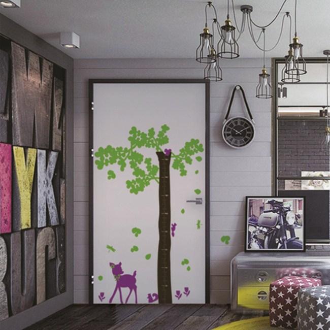 【Colors】WD-002 小鹿斑比 身高尺壁貼  無毒無痕 不傷