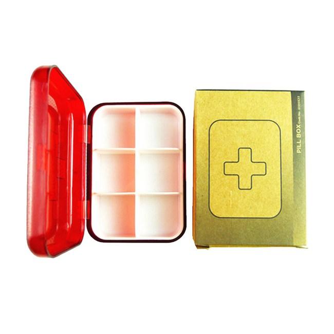 【PUSH!】旅遊用品便攜小藥盒旅行藥盒紅色S27