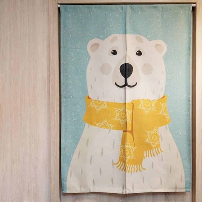 HONEY COMB和藹北極熊 棉麻門簾 風水簾GT-3594
