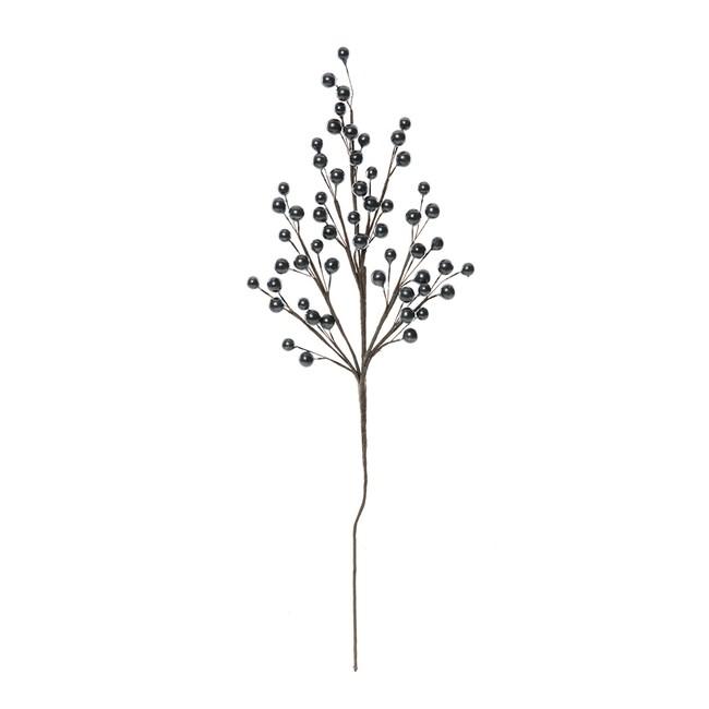 晶亮球珠串枝 黑色 46cm