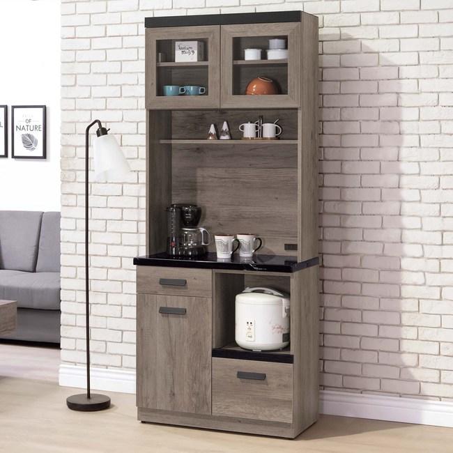 Homelike 迪思2.7尺石面收納餐櫃