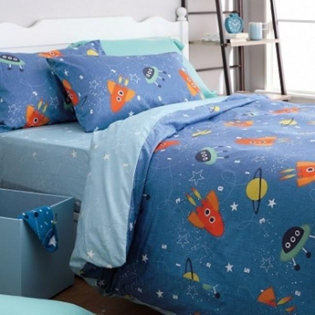 (組)太空任務純棉防螨抗菌床被組-雙人