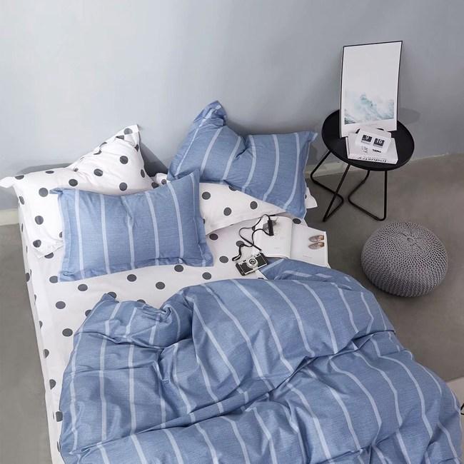 BEDDING-純棉四件式兩用被床包組-約定(雙人)