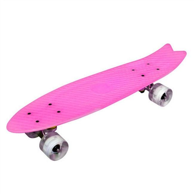 TECHONE S9 23吋夜光交通板 滑板 小魚板粉