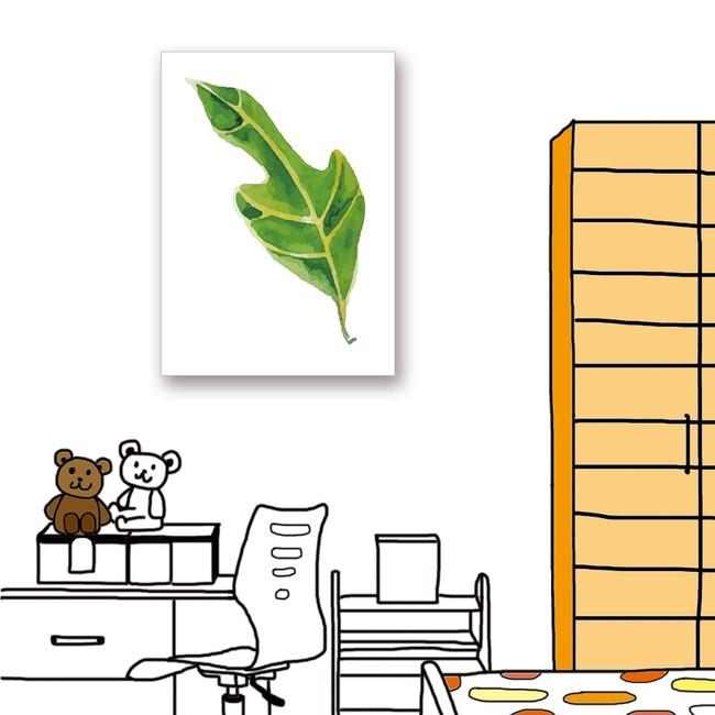 【24mama 掛畫】單聯式油畫布無框畫_40x60cm_熱帶植物6
