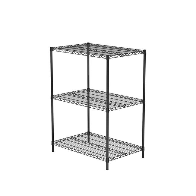 (組)特力屋烤漆三層架 -黑 90x60x120CM