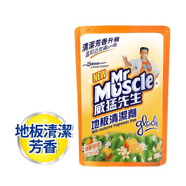 威猛先生 地板清潔劑補充包-清新鮮橙1800ml/6入箱購