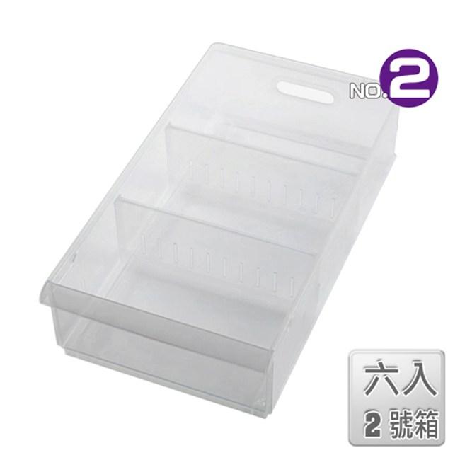 【收納屋】「無印美學」積木02隔板整理盒(附輪)(六入)