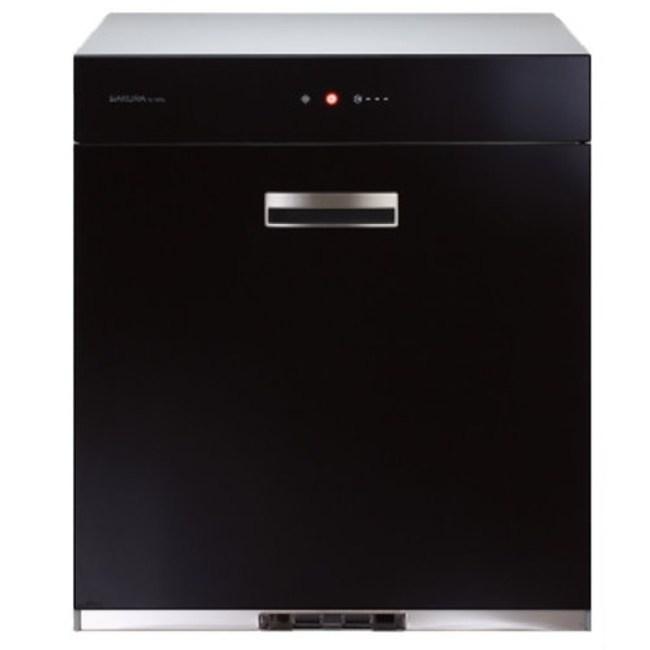 櫻花落地式全平面玻璃觸控70cm烘碗機黑色Q-7690L