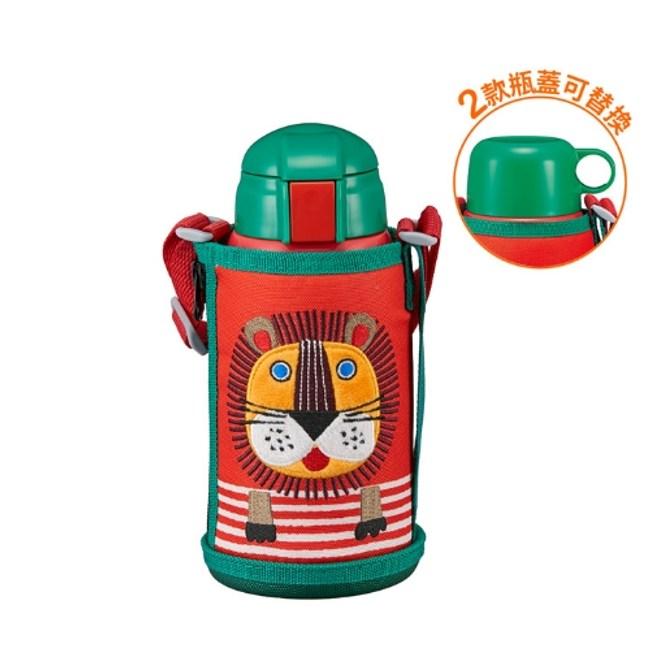 虎牌600cc童用兩用款/有吸管保溫瓶RL獅子MBR-T06G-RL