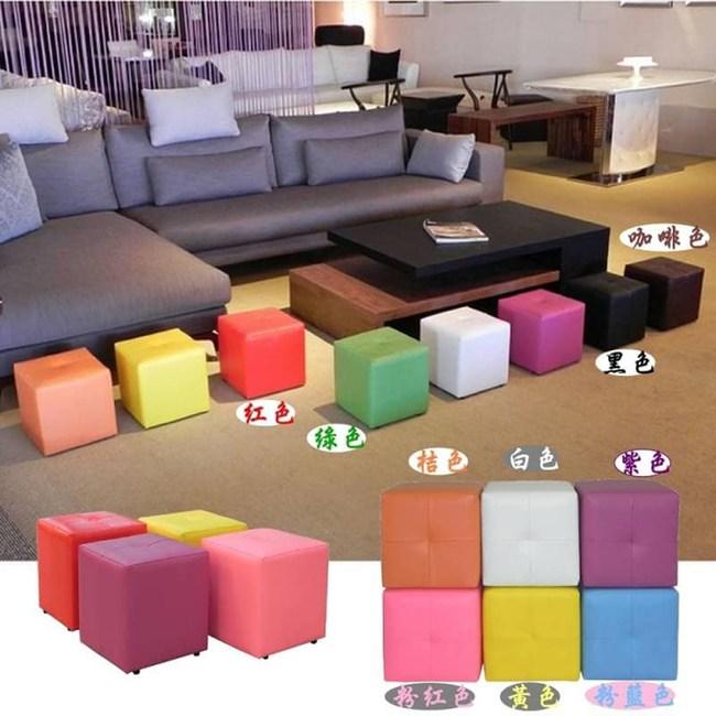 MIT日系繽紛彩色方塊椅(4入)