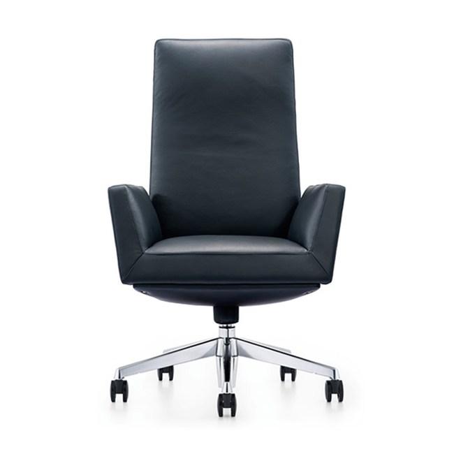 【BOCELLI】FIDUCIA自信風尚高背辦公椅(義大利牛皮)經典黑