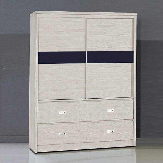 【YFS】艾米雪白4x7尺四抽衣櫥-123x58x198.5cm