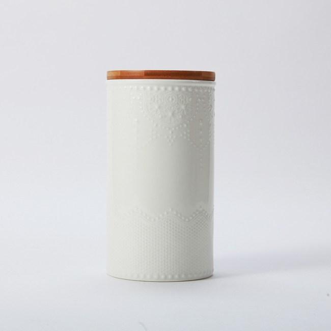 典雅蕾絲紋密封罐-1400ml