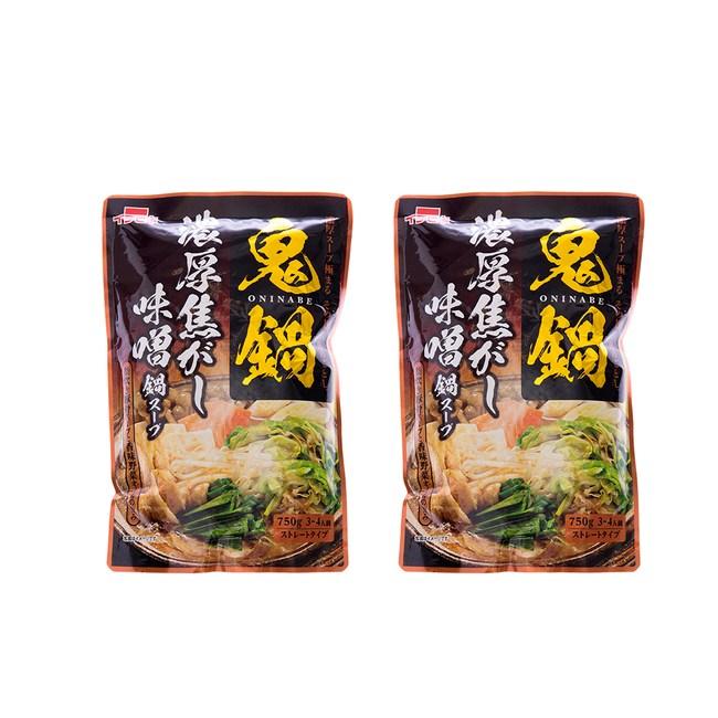 (組)日本一引火鍋高湯底[濃厚味噌風味]750g(3~4人) 2入組