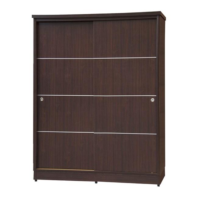 【YFS】山迪4尺胡桃二拉衣櫃-122x60x199cm