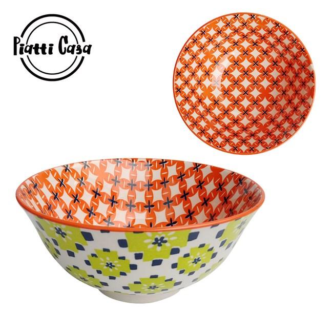 【Piatti Casa】6吋反口陶瓷餐碗-A104 (2入)