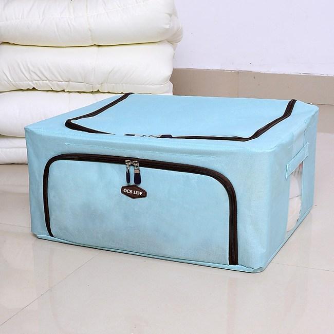 日式布質多功能拉鍊式收納袋-水草綠(2入)