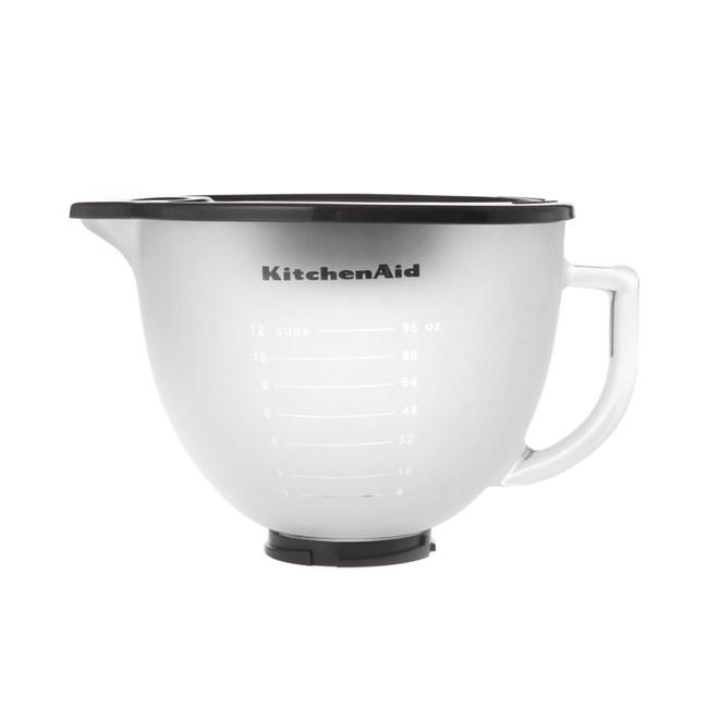 KitchenAid 5Q磨砂玻璃攪拌盆