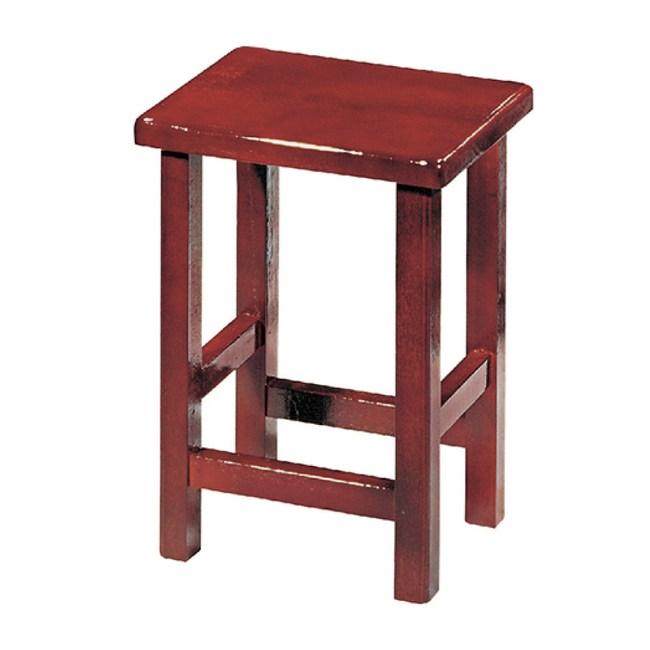 【YFS】萊恩紅木四方凳子-35x26x47cm