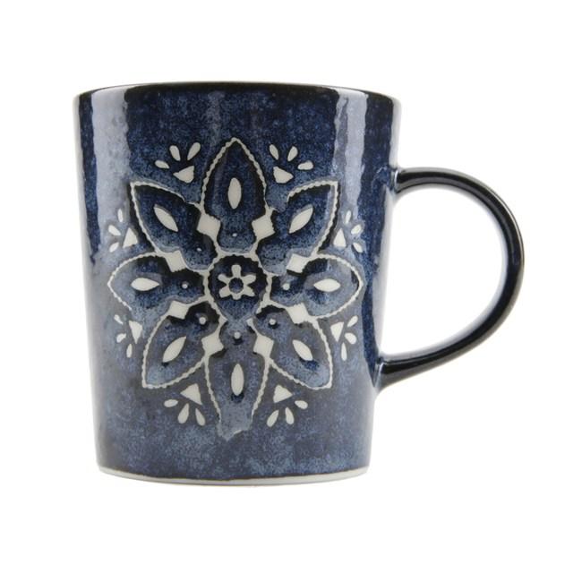 日本摩洛哥馬克杯 藍