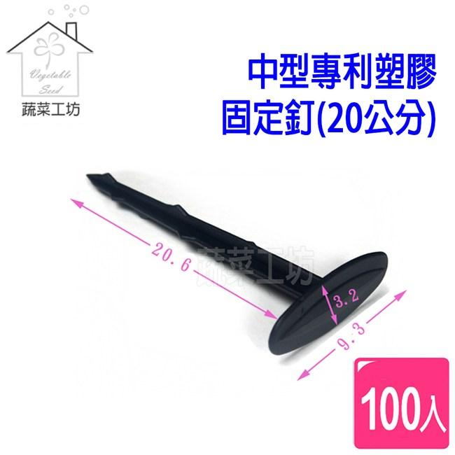 中型專利塑膠固定釘(20公分)100支/組