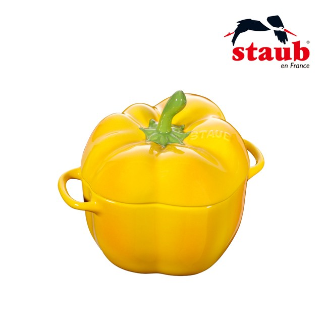 【法國Staub】Ceramic 彩椒造型陶缽12cm-黃色